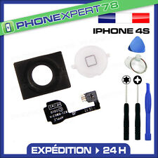NAPPE + BOUTON HOME BLANC + MEMBRANE POUR IPHONE 4S + OUTILS