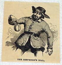 1882 small magazine engraving ~ The Shepherd'S Dial