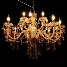 15 Light Crystal Candle Home Hotel Decoration Chandelier Pendant Ceiling E14