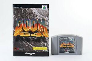 Doom 64 Nintendo 64 w/ Manual N64 Japam Import Game