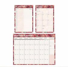 Travel Journal Schedule Planner Memo NotePad Book Monthly Weekly Daily Organizer