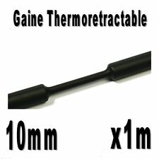 Gaine Thermo Rétractable 2:1 - Diam. 10 mm - Noir - 1m