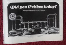 1972 Print Ad WHAM-O Frisbee ~ Did You Frisbee Today Couple Laying in the Bed