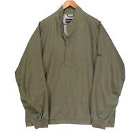 FootJoy Men's Green Lined Pullover Golf Windbreaker Jacket - Size Medium