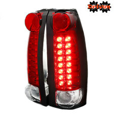 88-98 Chevy Silverado 94-99 Suburban Tahoe 99-00 Escalade LED Taillights RED 3D