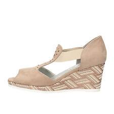 scarpe donna MARY COLLECTION 39 EU zeppe beige camoscio AF769-F