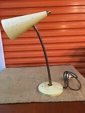 Retro Vintage Australian 1950's Anodised Gooseneck Table Desk Lamp