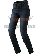 Vintage women's Motorcycle Motorbike Denim Trousers Pants Protection Lined Jeans