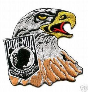Pow Mia Hog-Biker Patch American Eagle Freedom Protecteur Mia Patch Brodé