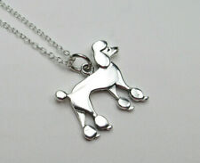 Poodle Pendant Pet Animal Jewelry Dog Lovers Gift Necklace 925 Sterling Silver