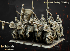 Medieval Heavy Cavalry, Highlands Miniatures, Bretonnian Proxies, Aos, 9th Age