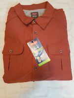 "Wrangler Men's 3XL ""Outdoor Series"" Burnt Orange L/S Button Down Shirt NWT"