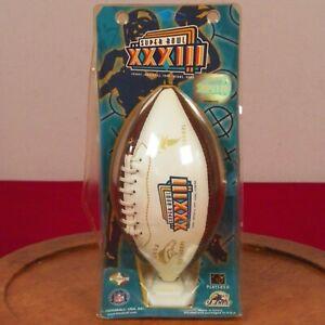 Vintage Super Bowl XXXIII NFL Collectible Miniature Football Denver Broncos 1998