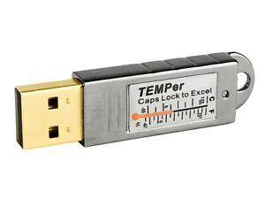 Thermometer, USB PC, Temperatur Sensor, mit Alarm, Windows 7, 8, 10, excel email