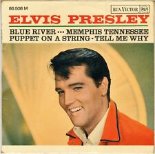 """ELVIS PRESLEY """"BLUE RIVER"""" FRENCH 60'S EP RCA VICTOR 86 508 (3-67)"""