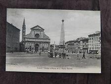 Vintage Postcard: Chiesa & Piazza di S. Maria Novella, Florence Itally