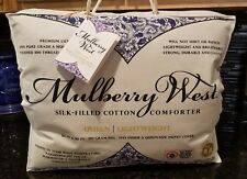 Mulberry West Silk Filled Cotton Comforter All Season Lightweight Queen 94x90""
