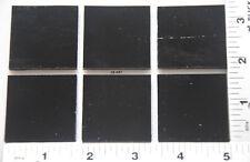 "0100.30 6 BLACK 1 1/2"" x 1 1/2"" BULLSEYE 3mm THICK GLASS 90 COE FUSIBLE"