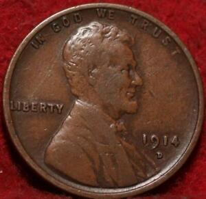 1914-D Denver Mint Copper Lincoln Wheat Cent