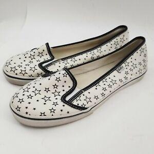 Vans KVD white black stars slip on sneakers sz 7.5 women's