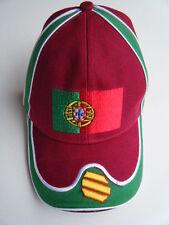 PORTUGAL PORTUGUESE FLAG SPORT EMBROIDERED HAT BASEBALL CAP CASQUETTE