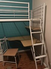 Loft Bunk Bed With Desk & Chair White