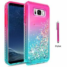 Shockproof Liquid Glitter Bling Case Cover For Samsung Apple Moto Lg Cell Phone