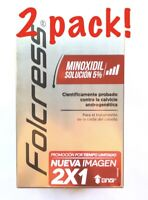 2 Boxes FOLCRESS Hair Loss Treatment Minoxidil 5% Tratamiento Caida Del Cabello