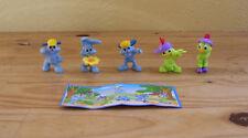 Lot de 5 Figurines Kinder Lapins et Poussins