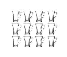 LAV Truva 100 ml Gläser mit Henkel *** 12er Set *** Tee- & Espressogläser TPL425