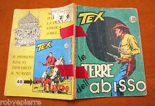 TEX GIGANTE 47 Araldo Lire 200 gennaio 1968 Le terre dell'abisso senza continua