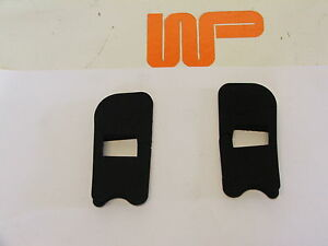 CLASSIC MINI PAIR OF DOOR CHECK STRAP SEALS FOR MINIS 1986> CGE10038 & CGE10039