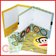 Paul Frank 3 Hole File Jacket Folder 4pc Stationary Set