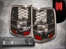 04 05 06 07 08 FORD F-150 BLACK TAIL LIGHTS LED / LED SMOKE 3RD BRAKE LIGHT