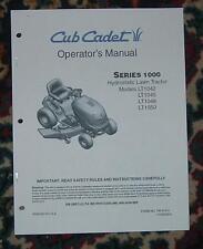 CUB CADET LT1050  OWNER / OPERATORS MANUAL