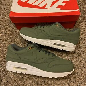 Nike Air Max 1 River Rock White Olive Green 2017 Sneakers Size 11.5 WMS 10 Mens