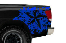 Custom Vinyl Rear Decal Nautical Star Wrap Kit for Nissan Titan Truck 04-13 BLUE