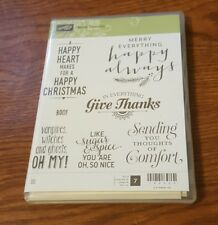 STAMPIN UP SUITE SEASONS RUBBER STAMP SET NEW