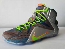 half off 51c2b ea72a Nike Lebron XII Prm Reflektierende Blau Green-Metallic Silber 705410 430 Sz  13