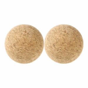 2PCS 61mm Natural Round Wine Cork Ball Wooden Stopper for Wine Decanter Bottle