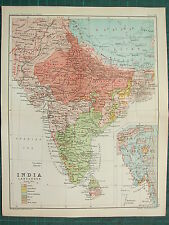 1893 INDIA EMPIRE MAP ~ INDIA LANGUAGES ~ ARYAN TIBETO-BURMAN TAI MON-ANAM