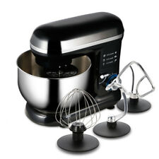 US Food Stand Mixer 6 Speed 5.9Qt 600W Tilt-Head Stainless Steel Bowl Electric
