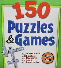 150 PUZZLE & GAMES AGE 9-11 NEW! Book,Stickers,Bookmarks Teachers tear out Copy
