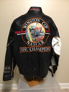 Vintage 1995 Champion Jeff Gordon #24 100% Leather Jacket Sam Bass Artwear XXL