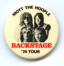 Early Mott The Hoople / Queen Ultra Rare! Backstage Pass Pinback Button