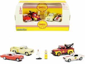 1:64 Shell Oli Service -- Multi Car Diorama -- Greenlight