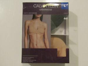 CALVIN KLEIN Womens 2Pk Black Nude Lightly lined Wire Free Bra Size M NIP