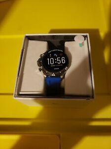 Fossil Gen 5 Garrett Stainless Steel Touchscreen Blue Smartwatch FTW4042 - NEW