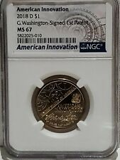 2018 D American Innovation - Washington Signed Dollar NGC MS-67