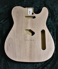 More details for tele custom body,  poplar body with flamed maple top! #1186 b